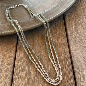 Lucky triple strand necklace